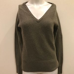 Green North Face Wool Sweater
